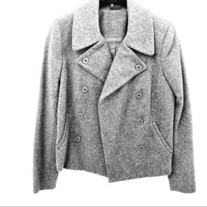 Sparkle & Fade Gray Wool Peacoat